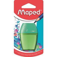 MAPED Taille-crayons avec réservoir Bulbo 1 trou Vert