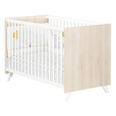 BABY PRICE  Lit bébé sommier réglable  60x120cm SCANDI coloris naturel