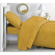 PTIT BASILE Lot de 2 taies d'oreiller bébé en coton bio 40 x 60 cm coloris unis  (Jaune moutarde)
