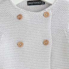IN EXTENSO Cardigan tricot de naissance bébé garçon (Gris chiné)
