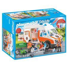PLAYMOBIL 70049 - City Life - Ambulance et secouristes