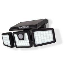 Inkazen Projecteur solaire 3 têtes 70 LED à détection de mouvement