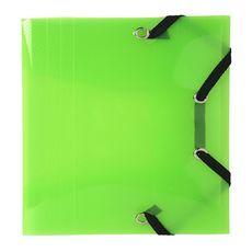 Chemise polypropylène à élastiques vert translucide