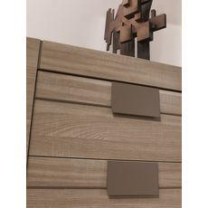 GAMI Commode 3 tiroirs L116cm ALLIANCE (Chêne fusain)
