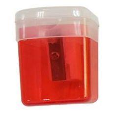 Auchan Pouce Taille-crayons avec reservoir 1 trou Rouge