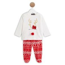 Pyjama 2 pièces noël bébé fille