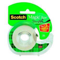 Un dévidoir de ruban adhésif Scotch® Invisible 25M x 19 MM + 5M gratuit.