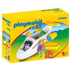 PLAYMOBIL 70185 - 1.2.3 - Avion avec pilote et vacancière