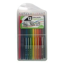 AUCHAN  Boite de 12 crayons de couleurs