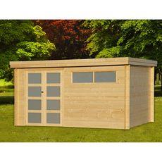 Abri jardin bois Apetina / toit plat / 10.49m² / 28mm