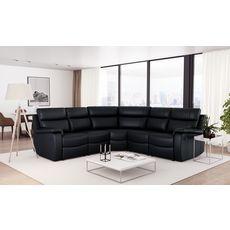 Canapé d'angle relax électrique simili 6 places HELENA