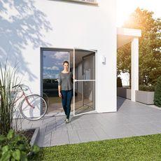 Kit moustiquaire pour cadre de porte 100 x 210 cm Blanc INSECT PROTECT