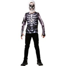 RUBIES Déguisement Top  + cagoule ado Taille 10/11 ans Fortnite Skull Trooper
