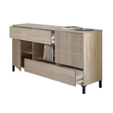 Buffet 2 portes + 2 tiroirs + 1 niche de rangement LOGIO (Bois)