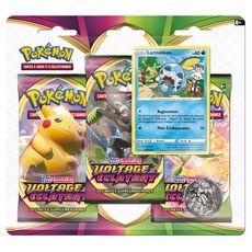 ASMODEE Pack 3 boosters Pokemon Epée et Bouclier Voltage éclatant