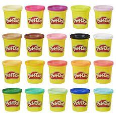 PLAY-DOH Pack de 20 pots de pâte à modeler