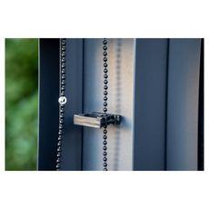 Habrita Rideau pour pergola bioclimatique avec rail pour côté 2,40 m couleur gris