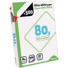 Auchan Ramette de papier 21x19,4cm A4 ultra blanc 80g 500 feuilles
