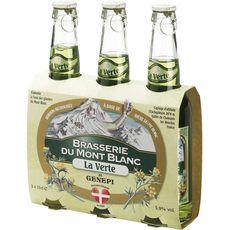 BRASSERIE MONT BLANC Brasserie du mont blanc Bière verte au genepi 5,9% bouteilles 3x33cl 3x33cl