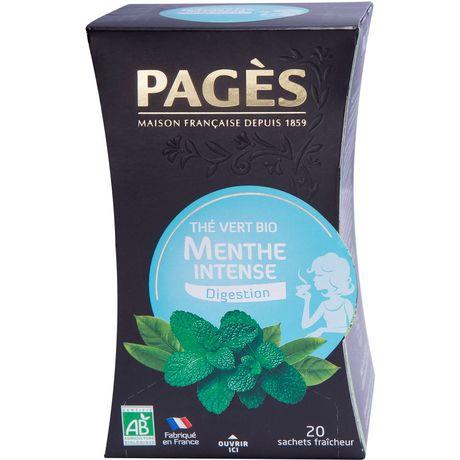 Pagès thé vert menthe intense bio 20 sachets 36g
