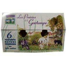 LES PRAIRIES DE LA GARTEMPE Yaourt nature au lait entier 750g 750g