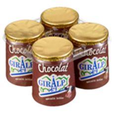 GIRALP Giralp pot carton chocolat 4x125gr