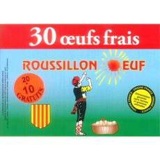 ROUSSILLON OEUFS ROUSSILLON ŒUF Œuf moyen de poules élevées au sol x30 30 œufs