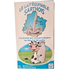 LAIT EQUITABLE SARTHOIS LE LAIT EQUITABLE SARTHOIS Lait demi-écrémé 1L 1L