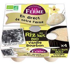 INVITATION A LA FERME Yaourt fermiers brassés sur lit de framboises 4x125g 4x125g