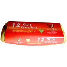 ROUSSILLON OEUFS Roussillon Oeufs Œuf moyen de poules élevées au sol x12 12 oeufs