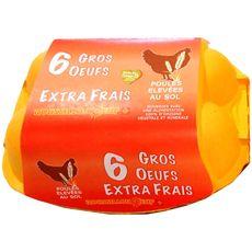 ROUSSILLON OEUFS ROUSSILLON ŒUF Œuf gros de poules elevée en plein air x6 6 œufs