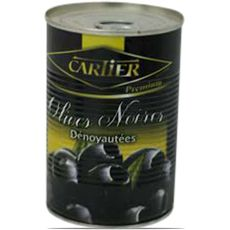Cartier olives noires dénoyautées boîte 250g