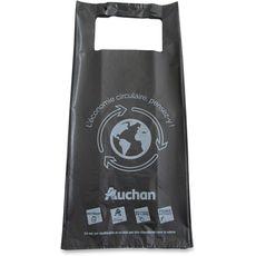Sac plastique noir bretelles recyclé 20l 20l