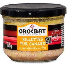OROCBAT Orocbat Rillettes de carnrd et son médaillon de foie 180g 180g