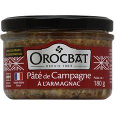 OROCBAT Orocbat Pâté de campagne à l'Armagnac 180g 180g