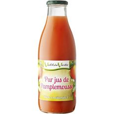 Vallée Verte jus de pamplemousse rose 100% fruit 1l