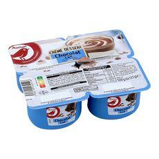 AUCHAN Crème dessert au chocolat au lait 4x125g