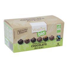 VENDOME Ballotin de chocolat noir et au lait bio 180g