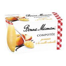 BONNE MAMAN Compotée de pommes à la vanille naturelle 2x130g