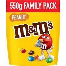 M&M'S Peanut Bonbons chocolatés à la cacahuète 550g