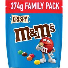 M&M'S Crispy Bonbons chocolatés cœur de céréales croustillants 374g