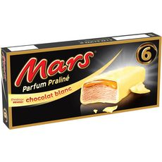 MARS Barre glacée praliné au chocolat blanc 6 pièces 213g