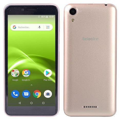 SELECLINE Smartphone 5 S1 20   8 Go 5 pouces Or 4G Double microSim