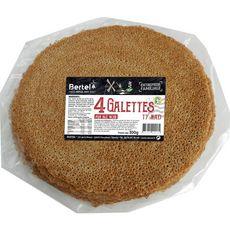 BERTEL Galettes de blé noir 4 galettes 300g