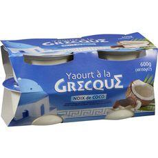 Yaourt à la grecque sucré à la noix de coco 4x150g