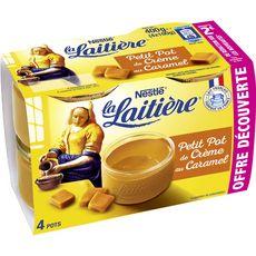 La Laitière LA LAITIERE Petit pot de crème saveur caramel