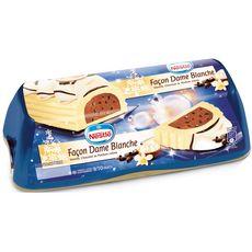 NESTLE Bûche glacée façon dame blanche Vanille chocolat et parfum crème 9-10 parts 540g