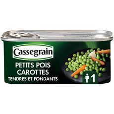 CASSEGRAIN Petits pois carottes sélection tendres et fondants 130g