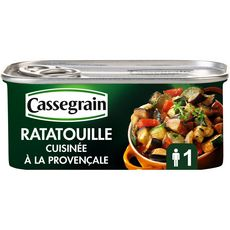 CASSEGRAIN Ratatouille cuisinée à la provençale et huile d'olive 185g