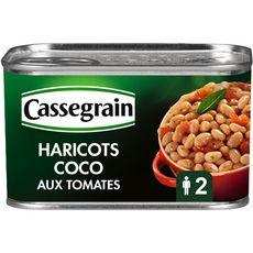 CASSEGRAIN Haricots coco cuisinés aux tomates, laurier et sauge 435g